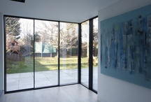 Project: Dovercourt Road / A glazed modern extension with glass roof and IQ's Minimal Window sliding doors