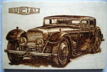 Pyrography / Technique of handmade pyrography. Pyrography or pyrogravure is the art of decorating wood or other materials with burn marks resulting from the controlled application of a heated object such as a poker. It is also known as pokerwork or wood burning.  I can do custom pyrography after your desired model.