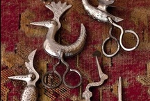 Fine and/or antique scissors, thimbles, buttons / ...research old sewing boxes...