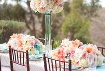 Pretty Pink, Mint, Cream, & Gold Party Decor / beautiful party decor