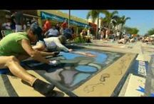 Videos of Lake Worth Street Painting Festival / Watch the streets come to life as artists from around the world emerge in Lake Worth, Florida at the annual Lake Worth Street Painting Festival.