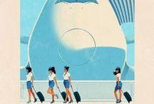 Retro Travel Posters & Advertisements