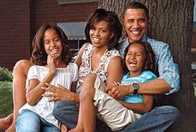 The Obama's / President Obama and First Lady Michelle, Malia and Natasha  / by Juney 25
