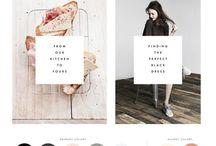 Website design & colours / Website designs