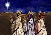 Die heiligen drei Könige/ Epiphanias / ...und siehe, der Stern, den sie im Morgenland gesehen hatten, ging vor ihnen her, bis er über dem Ort stand, wo das Kindlein war.    Matth. 2:9 / by Manuela Glombitza
