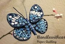Quilling butterfly / Paper quilling