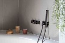 Design by Alain Berteau / Bathroom and kitchen faucets designed by Alain Berteau