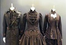 Steampunk / Re-imaginings of historic fashions with a Steampunk aesthetic