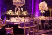 Purple, Gold and Cream Wedding Decor