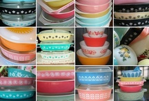 Vintage Kitchen Glassware / Gorgeous, bright colors and cheery patterns. THIS is vintage glassware.