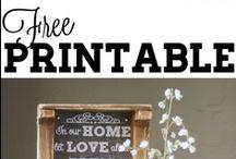 Fonts, printables