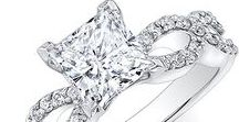 Princess Engagement Ring with Side Diamonds / It is no doubt that our Princess Engagement Ring epitomizes a gorgeous and dynamic style including classic, modern and vintage. It is time to take things to a whole new level with our reasonable price and quality princess diamond ring with side stones.