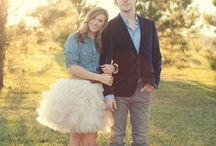 Photoshoot wardrobe inspiration couples / Nice clothing combinations to wear at a engagement photo shoot.