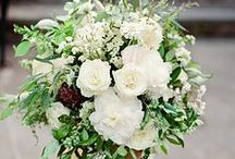 simplicity in Green and White / Wedding flowers