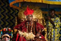 African kings / Kings from Benin, palace, crowns, gold, prince, princess, royal, power, kingdom, control, diamonds, lions, panthers, tiger, throne, robe, spear, umbrella