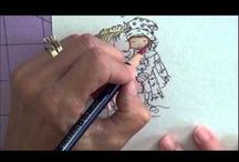 Coloring With Inktense Pencils / Coloring With Inktense Pencils. Tips & tutorials.
