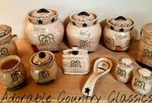Adorable Country Classics / MY ETSY STORE IS OPEN! https://www.etsy.com/shop/adorablecc These are some of the items I've painted. I will be offering my ceramic kitchen pieces in several different designs. My blog link: adorablecountryclassics.blogspot.com