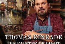 "IN MEMORY OF THOMAS KINKADE ""THE PAINTER OF LIGHT"" 1958-2012 / by EVELYN PARSONS"