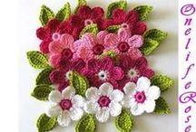 Crochê Flores e folhas
