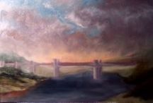 The White Bridge / Inspiration and reference material for new painting... The White Bridge , a bascule bridge in Carmarthen, ( grade 2 listed ). Lots of photos. A couple of other peoples' paintings, a similar bridge by Monet. and Johannes Vloothuis's paintalong bridge.