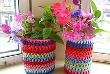 Lovely jars / Crochet jars.