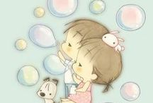Cutie pie / Sticker, pic, cute cartoon