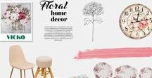 Vicko Floral Home Decor / Shop Floral Decor for your Home BY VICKO