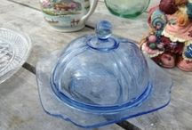 DEPRESSION GLASS / Please pin as many as you like..   / by Earlene Dobbs  Carey