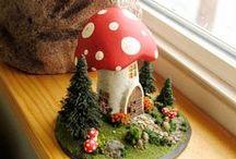 Gnomes & Mushrooms. Woodland / by Tanya Rubezhov