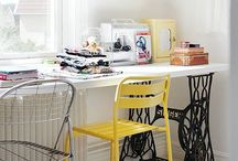 HOME :: workspace / Ideas for the perfect sewing room.