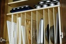 Organizing Your Kitchen / Cabinets, counters and drawers, oh my! If this is your kitchen you'll love all the tips and tools we've gathered for you here!