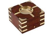 Wooden Ashtray / Handmade wooden ashtray