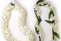 Hawaiian Wedding Leis / Hawaiian wedding leis are a beautiful way to symbolize the union of two people, as well as the joining of families.  Explore traditional Hawaiian wedding leis as well as unique modern ways of using leis to create an elegant atmosphere for an outdoor Hawaiian wedding.