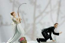 Fun wedding cake toppers