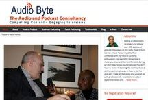 The Business of Podcasting Blogs / These are blog posts for businesses and professional service firms about how they can use audio to create content for their business. You can find out at http://www.audio-byte.co.uk