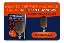 eBook - How to Prepare for audio interviews / This eBook is for authors, entrepreneurs and professionals planning audio and podcast interviews to boost their online presence, and want to make the right impression; preparation is crucial. You can download it for FREE here: http://www.audio-byte.co.uk/how-to-prepare-and-have-great-audio-interviews/