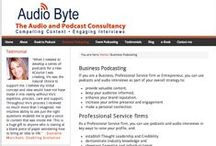 Business Podcasting / If you are a Business, Professional Service firm or Entrepreneur, you can use podcasts and audio interviews as part of your overall strategy to: provide valuable content, keep your audience informed, enhance your brand reputation, increase your online presence and engagement make a personal connection. You can find out more here: http://www.audio-byte.co.uk/business-podcasting/