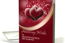 Wedding Anniversary and Anniversary Invitation Greeting Cards