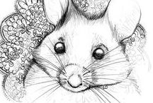 croquis Animaux / Animals drawings / illustrations, croquis d'animaux