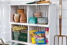 Outdoor and Garage Storage / Yes, it IS possible to keep a neat and tidy garage! Tips and ideas for keeping your garage so organized, you might even have room for the car. :-)