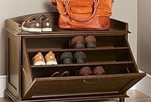 Storage Solutions / Attractive ways to keep your home neat...storage pieces that double as home accents.