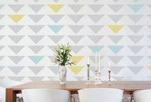 Casa: Paredes / Idéias para paredes: estampas, cores, estilos etc.