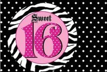 Polka Dot Sweet 16 Party / Polka Dot Sweet 16 theme is always classy.  Be bold and use different color polka dots!
