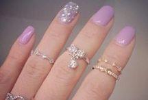 Nailart and some polish / Gel nails, color, tips, square shaped, round shaped, nailpolish, glossy, glitter polish
