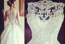 a Gown for me / wedding dress, wedding gown, ball gown, white, powder blue,