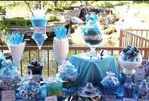 Party in Blue / Blue themed wedding, AF themed wedding, Decoration, Flowers and Invitations