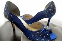 Marry me in Heels / wedding shoes, flats, heels, white, creme, blue,