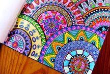 Desenho: Zentangles e Doodles / zentangles inteiros, formatos, mandalas etc.