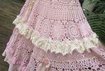 spódnice i sukienki / spódnice i sukienki na drutach i na szydełku