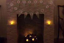 Faux Fireplace / DIY Faux Fireplace - Christmas 2015